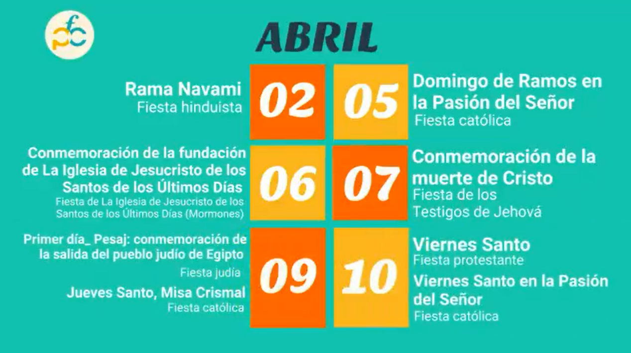 Un mes d'abril ple de celebracions religioses…confinades